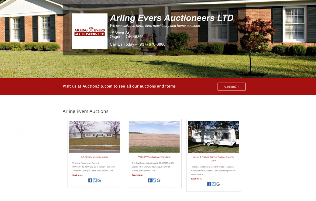 arling evers auctioneers website