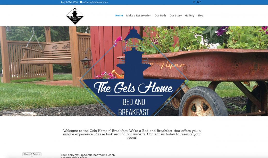 gels home bed and breakfast website