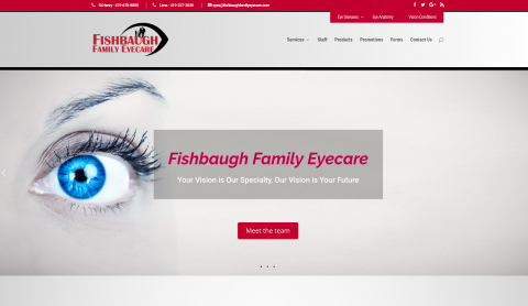 fishbaugh family eyecare website