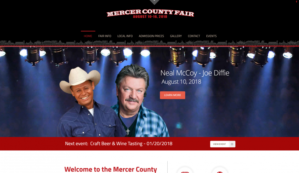 mercer county ohio fair website