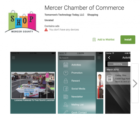 mercer chamber of commerce app
