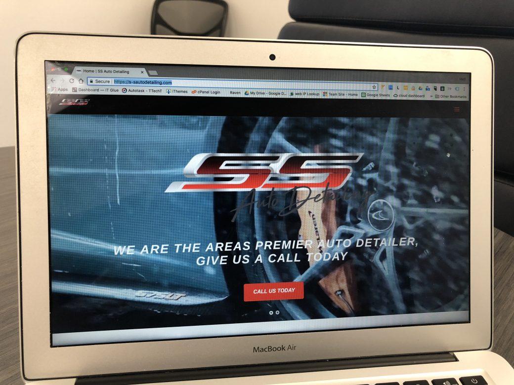 SS Auto Detailing website