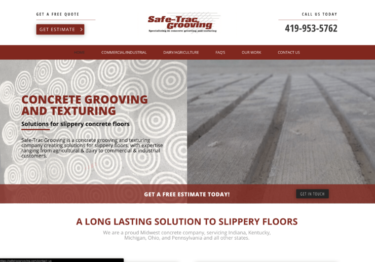 Safetrac grooving websote